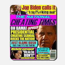 Obama Cheating (satire) Mousepad