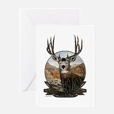 Mule deer Painting Greeting Card