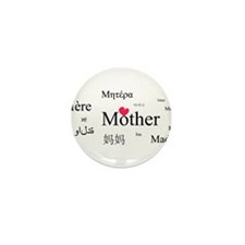 Mother in a thousand language Mini Button (10 pack