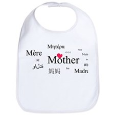 Mother in a thousand language Bib