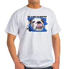 BULLDOG ANTI LOVE Ash Grey T-Shirt