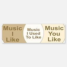 Music Snob Music I Used To Li Bumper Bumper Sticker