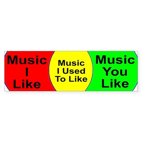 Music Snob Music I Used To Li Sticker (Bumper)