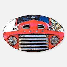 Unique Antique truck Sticker (Oval)