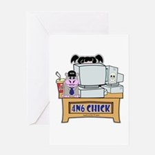 4N6 CHICK Abby NCIS Greeting Card