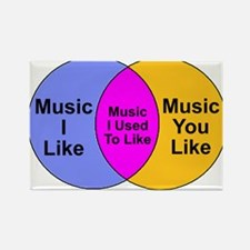 Music Snob Music I Used To Li Rectangle Magnet
