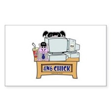 4N6 CHICK Abby NCIS Decal