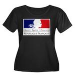 REPUBLIQUE FRANCAISE Women's Plus Size Scoop Neck