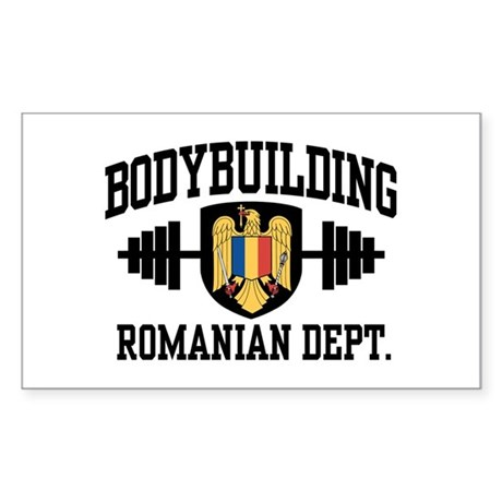 Romanian Bodybuilding Sticker (Rectangle)