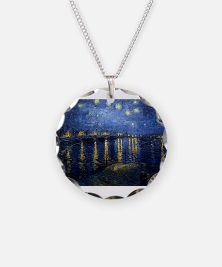 Van Gogh: Starry Night Over Necklace