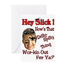 SLICK Greeting Card