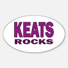 Keats Rocks Sticker (Oval)