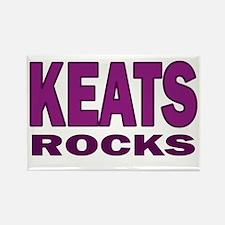 Keats Rocks Rectangle Magnet