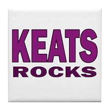Keats Rocks Tile Coaster