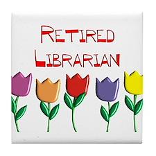 Retired Librarian Tile Coaster