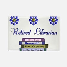 Retired Librarian Rectangle Magnet
