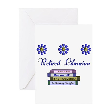 Retired Librarian Greeting Card
