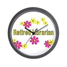Retired Librarian Wall Clock