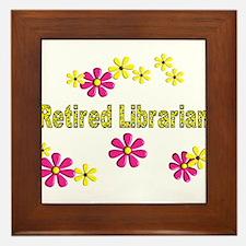 Retired Librarian Framed Tile