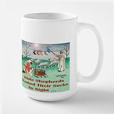 """""""WHILE SHEPHERDS WASHED..."""" Large Mug"""