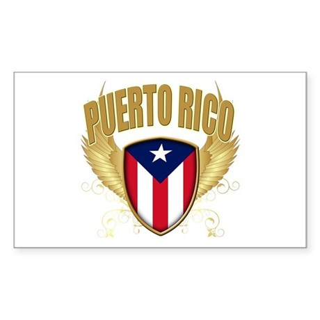 Puerto rican pride Rectangle Sticker