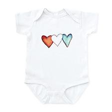 Patriotic Hearts Infant Creeper