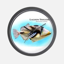 Lagoon Triggerfish Wall Clock
