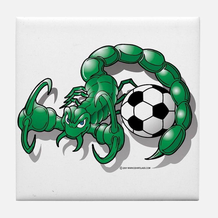 Sting Soccer Scorpion Tile Coaster