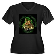 Irish Firemen Women's Plus Size V-Neck Dark T-Shir