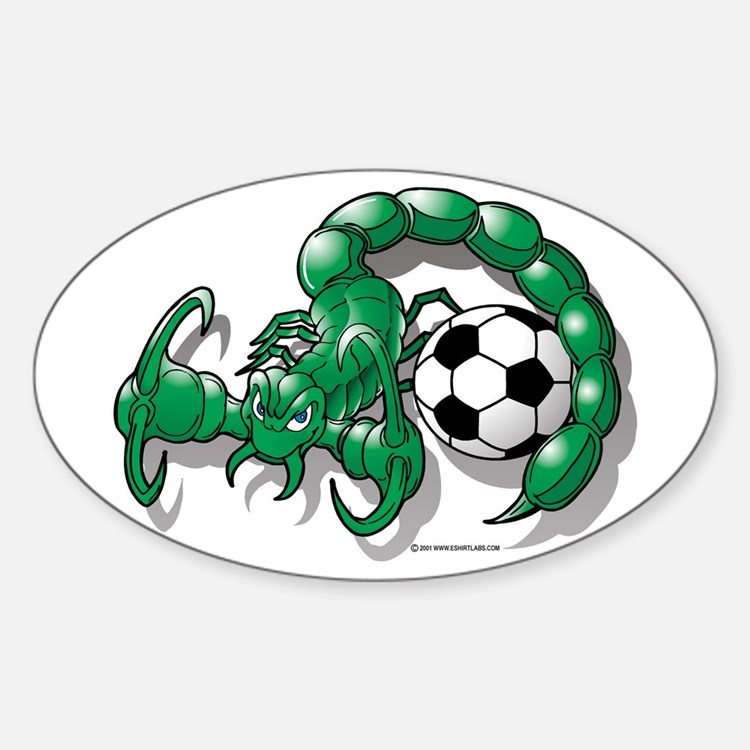 Sting Soccer Scorpion Oval Decal