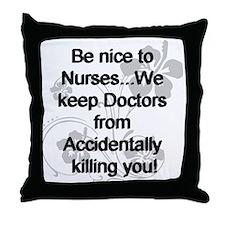 Cute Male nurse Throw Pillow