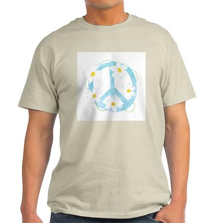 Peace Flower Ash Grey T-Shirt