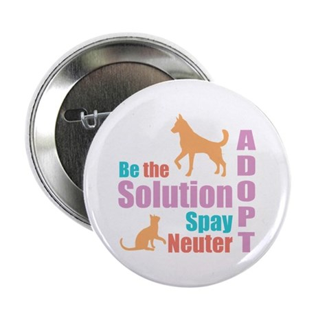 """New Be The Solution 2.25"""" Button"""
