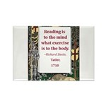 Reading Is To The Mind Rectangle Magnet (100 pack)