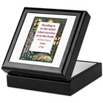 Reading Is To The Mind Keepsake Box