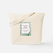 Nature and Books Tote Bag