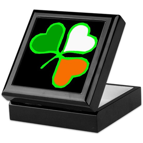 Tri-Color Shamrock Keepsake Box