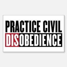 Practice Civil Disobedience Decal