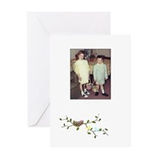 Easter Baskets (Blank) Greeting Card