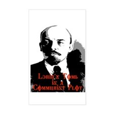 lenin's tomb is a communist p Decal