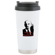 lenin's tomb is a communist p Travel Mug