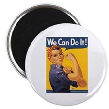 """We Can Do It Poster 2.25"""" Magnet (10 pack)"""