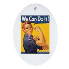 We Can Do It Poster Oval Ornament