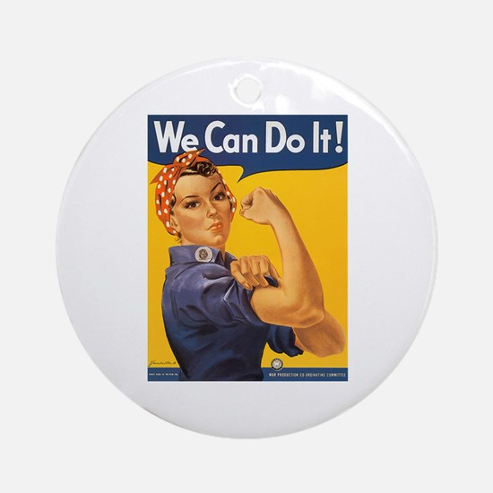 We Can Do It Poster Ornament (Round)