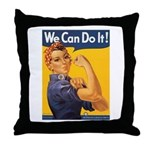 We Can Do It Poster Throw Pillow