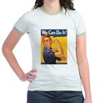 We Can Do It Poster Jr. Ringer T-Shirt