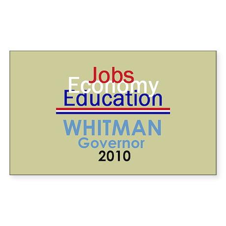 Meg Whitman Governor Californ Sticker (Rectangle)