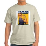 We Can Do It Poster (Front) Ash Grey T-Shirt