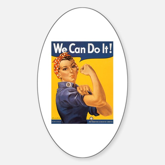 We Can Do It Poster Oval Decal