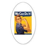 We Can Do It Poster Oval Sticker